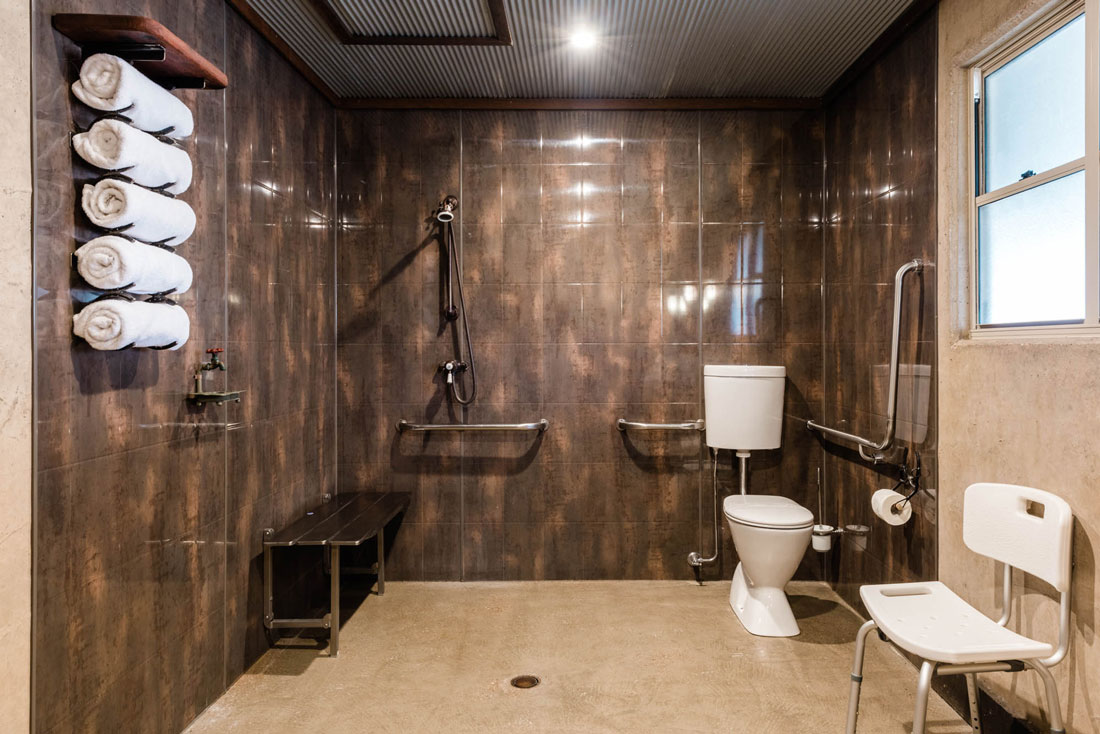 disabled bathroom facilities at saltbush