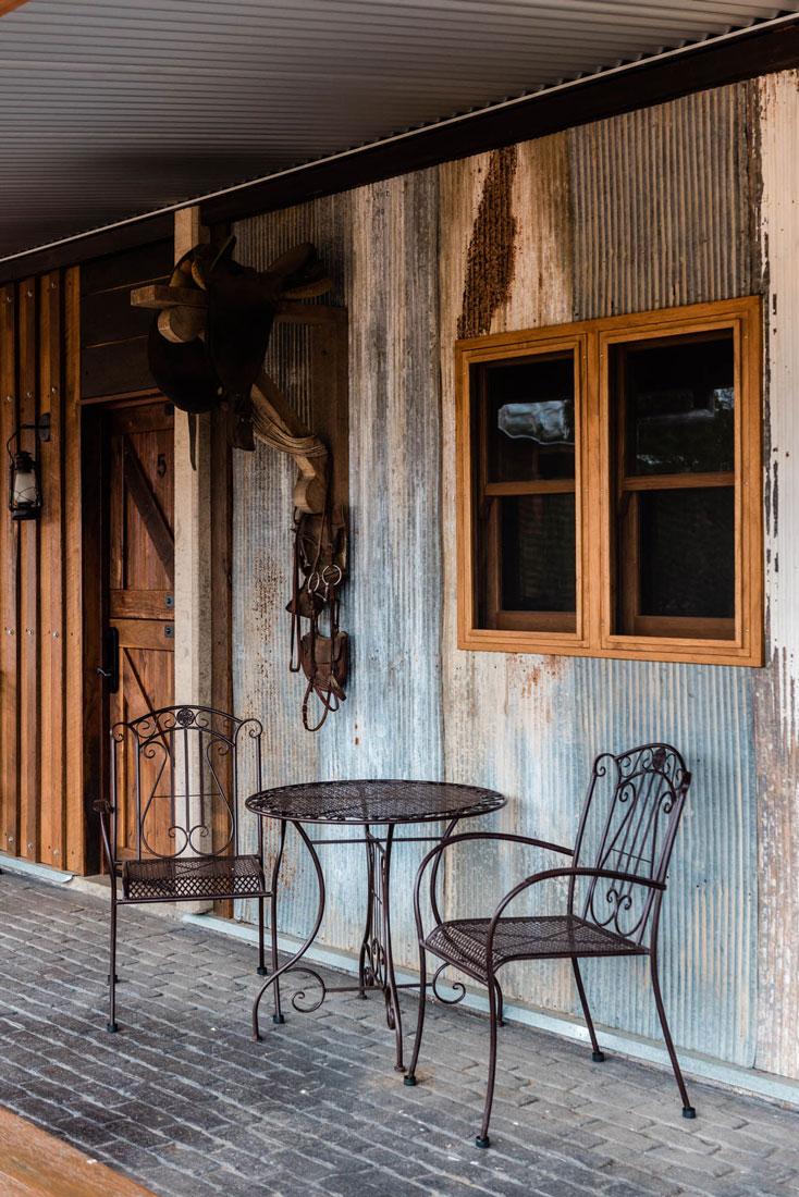 Iron sheeting exterior