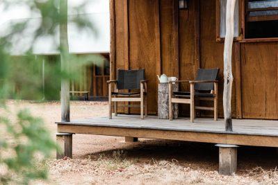 chairs and fresh tea on verandah
