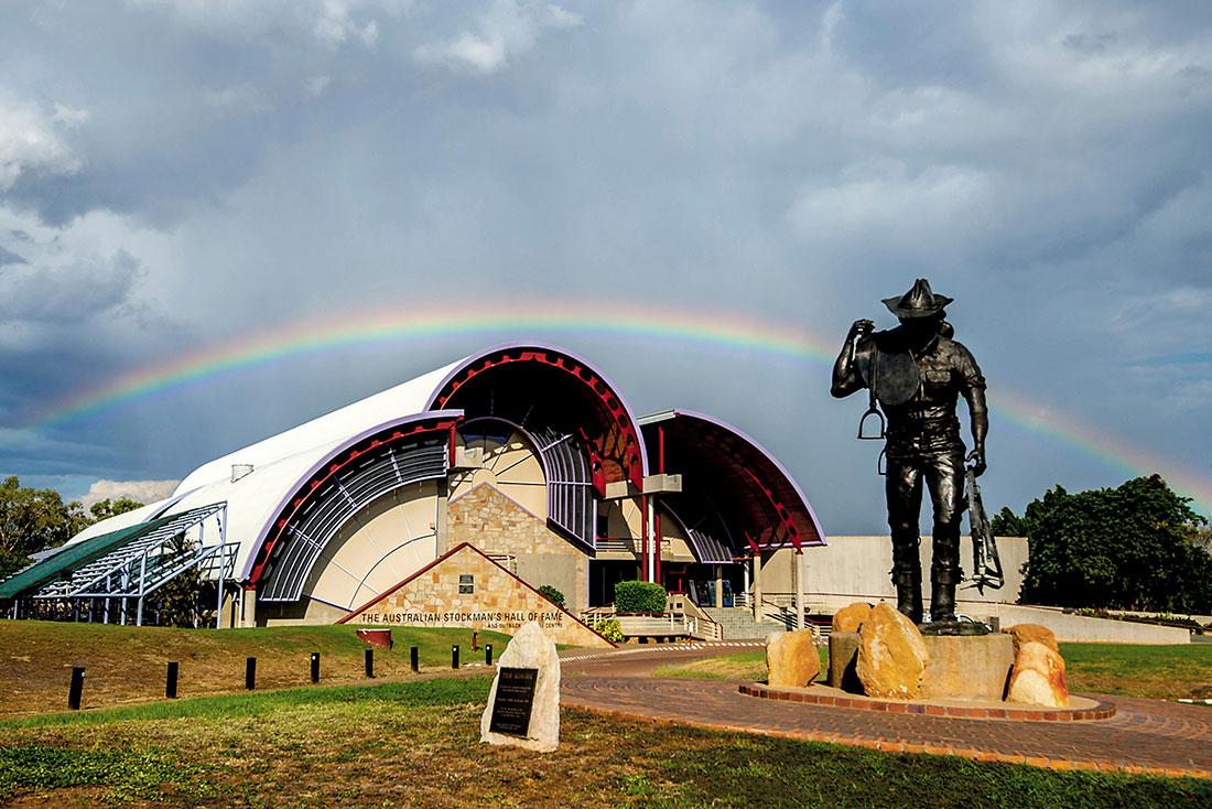 Rainbow over Australian Stockman's Hall of Fame