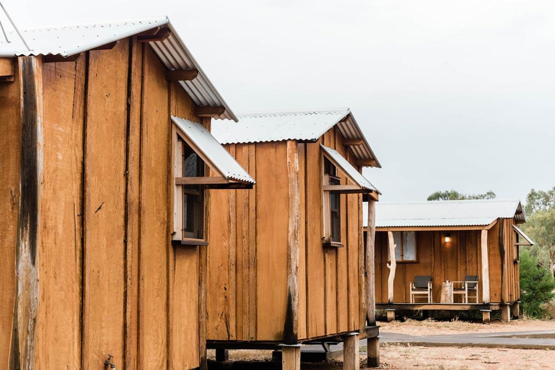 slab huts at saltbush retreat